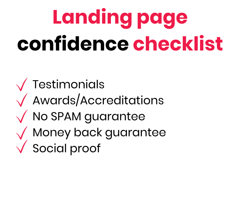 build trust with landing pages